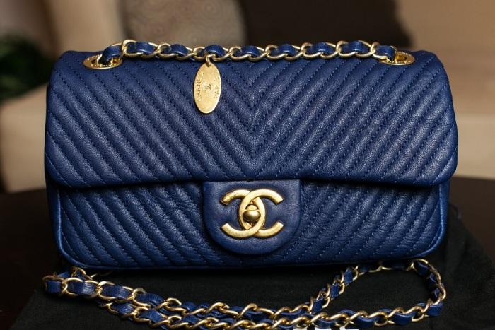 chanel navy blue